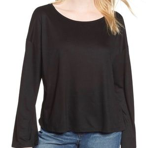Madewell Libretto Long Wide Sleeve Top Black XS